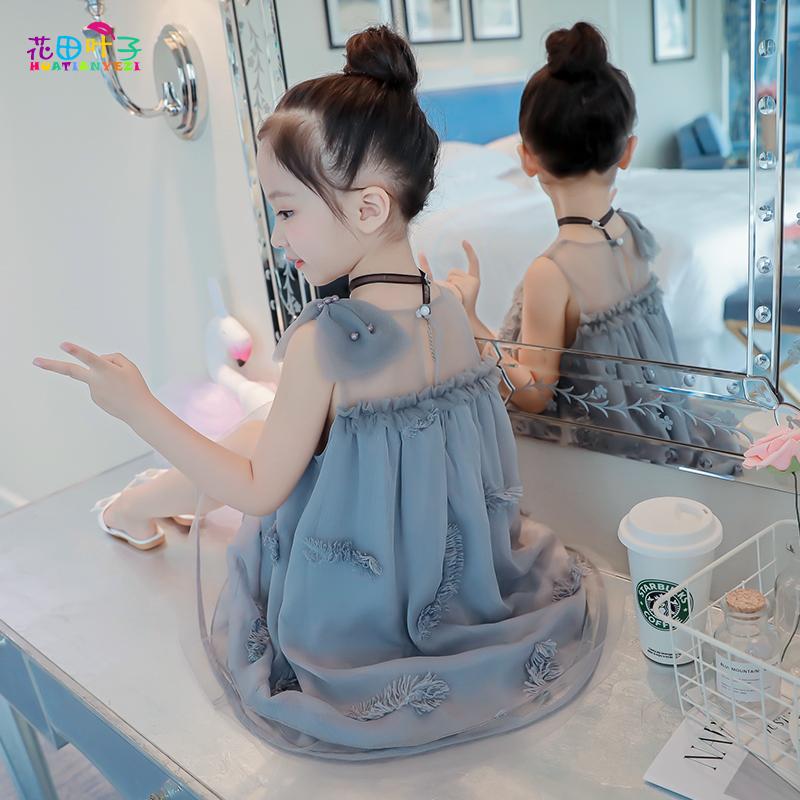 女童装夏装连衣裙2019新款小女孩网红公主儿童超洋气夏天薄款裙子
