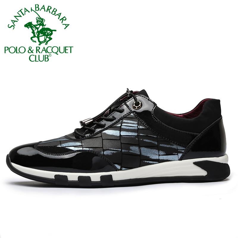圣大保罗男鞋秋季新款时尚真皮男士跑步鞋运动鞋韩版休闲皮鞋潮鞋