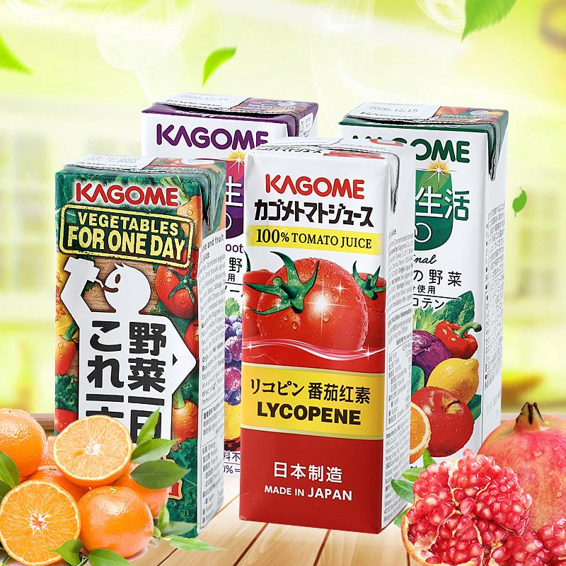 日本可果美Kagome果蔬汁野菜生活番茄汁混合纯蔬菜饮料低卡轻断食