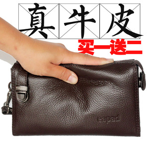 Men's Handbags Genuine Leather Business Casual Handbags 2019 New Soft Leather Clutches Leather Men's Bags Wallets