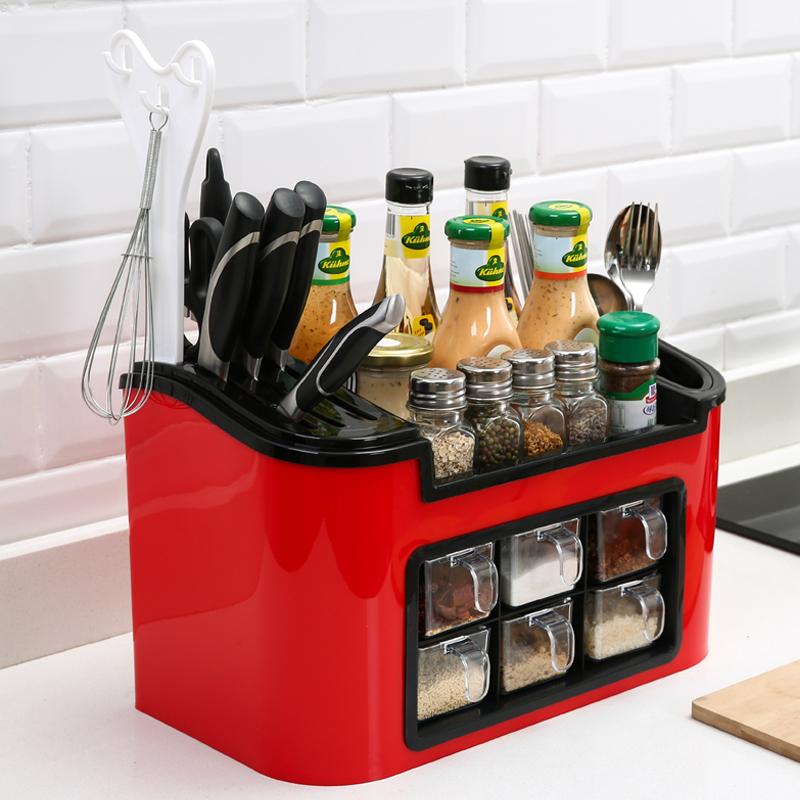 厨房用品小工具调料盒套装家用盐糖佐料收纳盒组合调味罐瓶置物架-品质家居直销店-12月