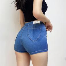 欧美性感蜜桃臀紧身包臀高腰牛超仔短裤美臀提臀弹力翘臀热裤女夏