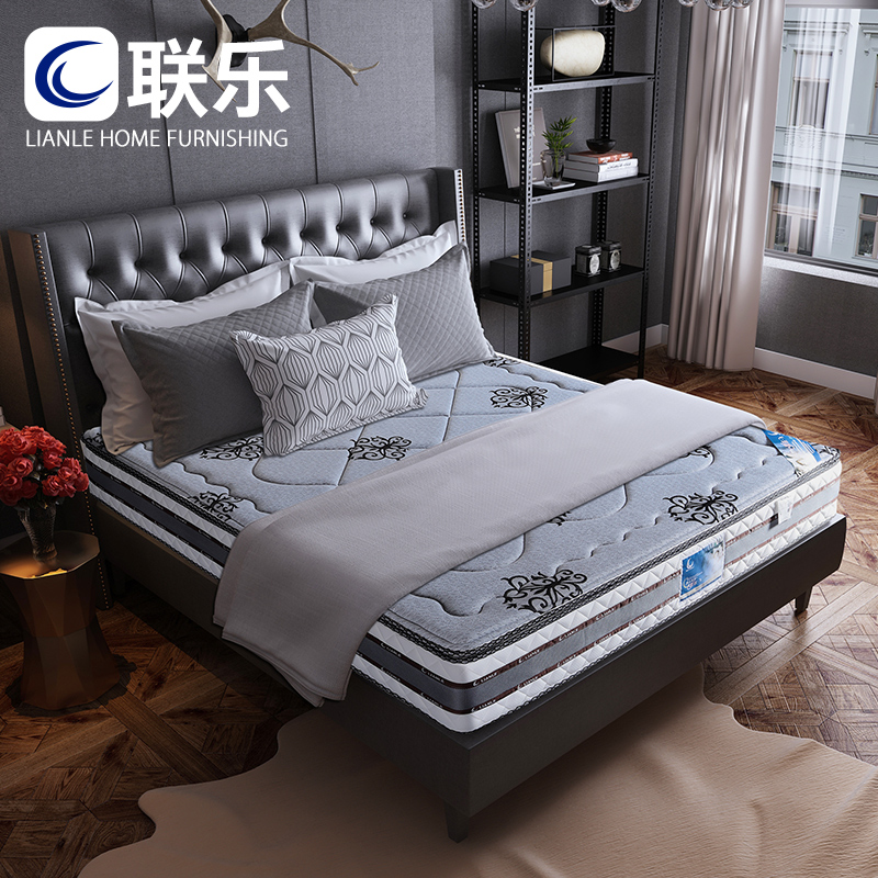 联乐椰棕床垫静音弹簧床垫1.8m1.5米席梦思软硬两用双人床垫 深眠
