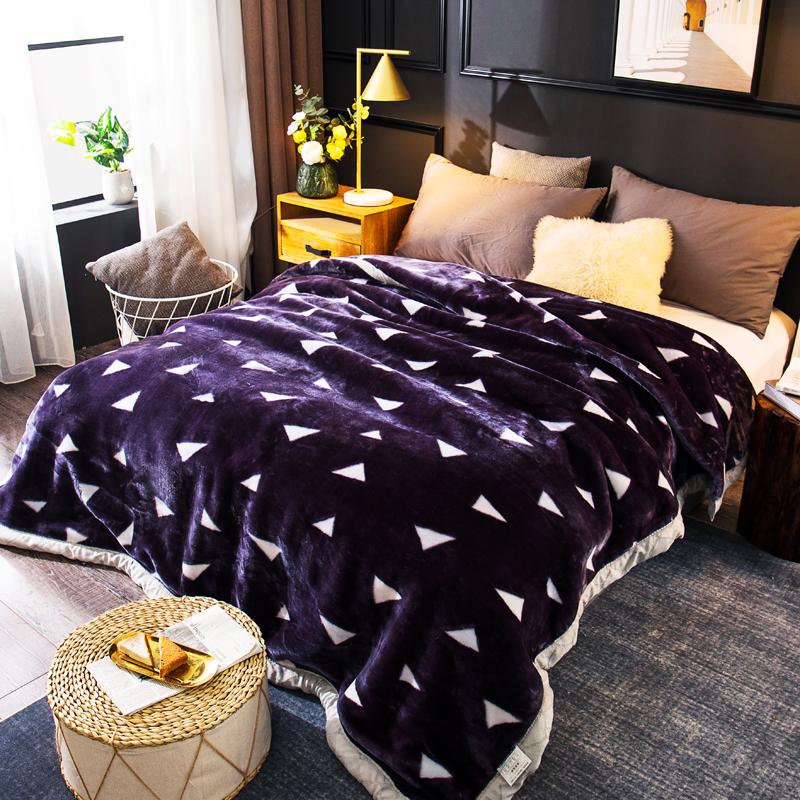 珊瑚绒毛毯子冬季双层加厚保暖法兰绒床单宿舍单人学生午睡小被子