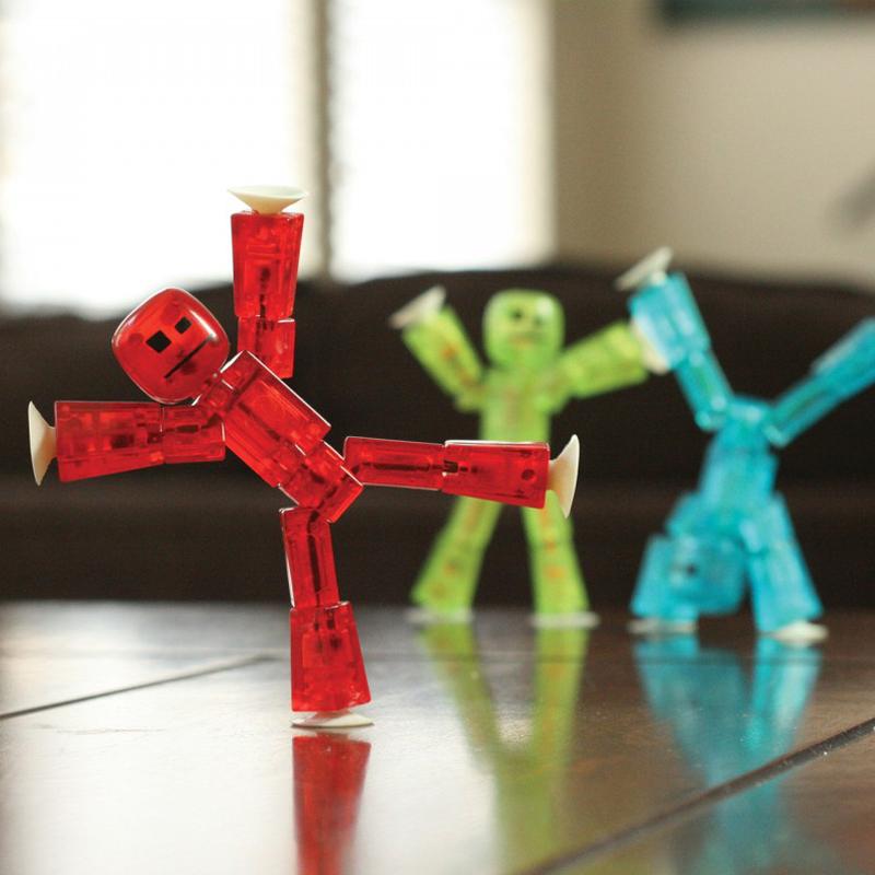 吸盘小人机器人木偶人摄影动画小人减压玩具六一儿童节生日礼物品
