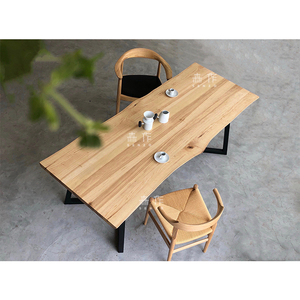 """Morizo"" ash dining table / multi-ply desk / solid wood tabletop / modern Nordic style / residential furniture"