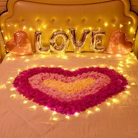 玫瑰花瓣生日求婚布置创意用品结婚婚房表白浪漫惊喜道具情人节