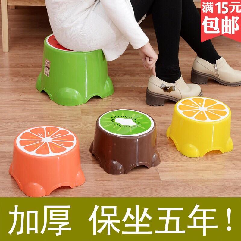 塑胶加厚型餐厅塑料四方儿童小号矮凳卫生间学生[集市]