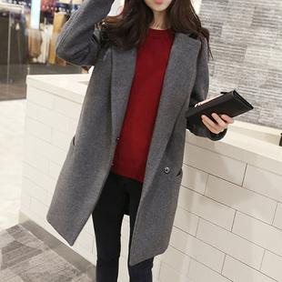 毛呢外套女大衣中长款2018新款韩版秋冬季流行赫本风呢子加厚学生