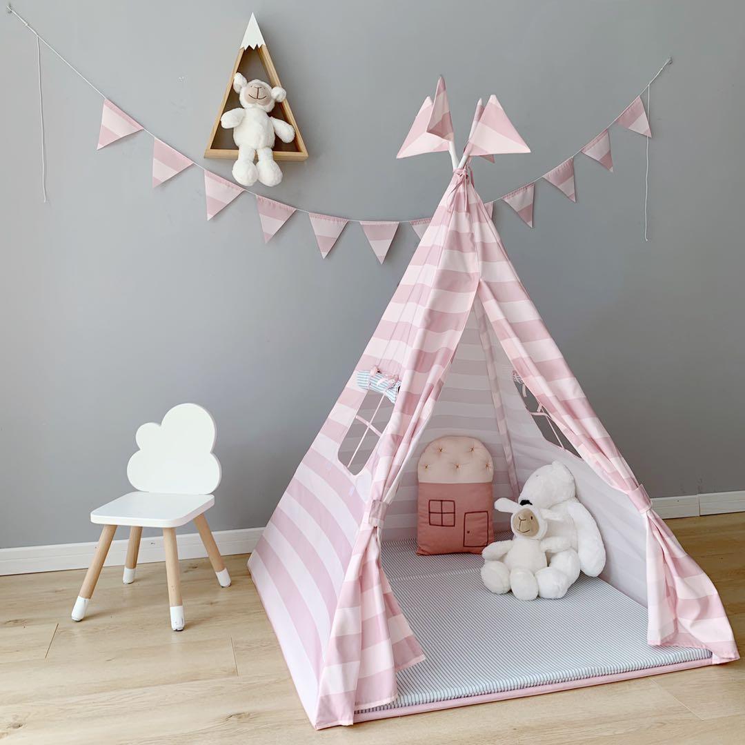 北欧风儿童帐篷亲子游戏屋玩具小屋可爱小帐篷儿童房装饰摄影道具