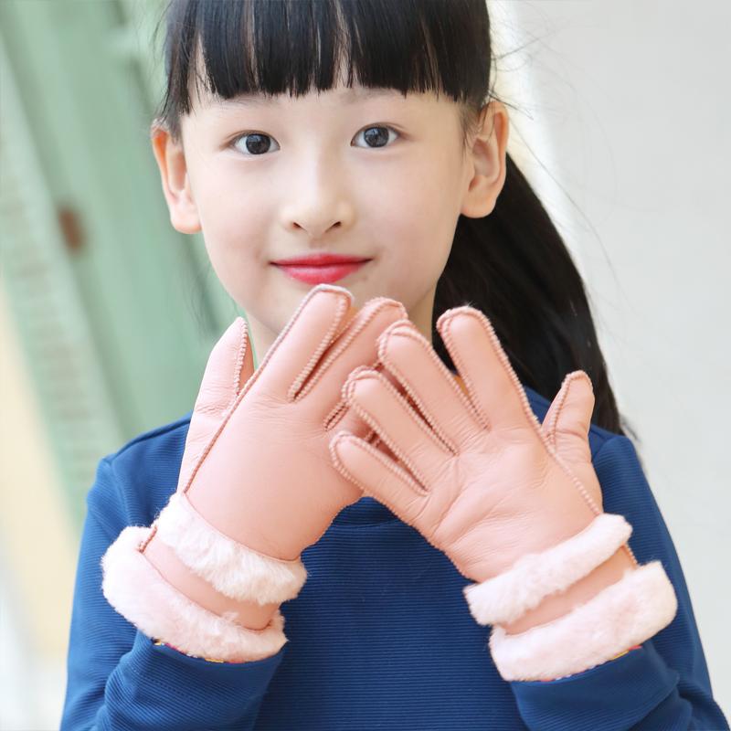 秋冬保暖加绒加厚儿童手套
