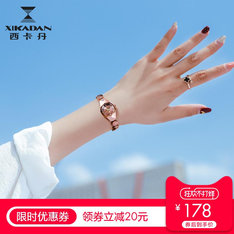 手链手表女士钨钢正品时尚潮流防水2018新款韩版简约学生石英表