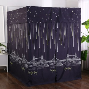 Household shading bed curtain 1.8m bed floor stand bold stand mosquito net 1.5m fully closed shade bed windproof bed net