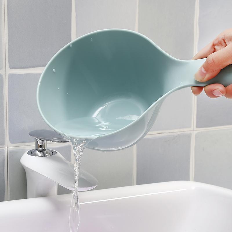 家用长柄水瓢厨房水漂水勺塑料舀水勺摇水勺子水舀子水飘洗头洗澡