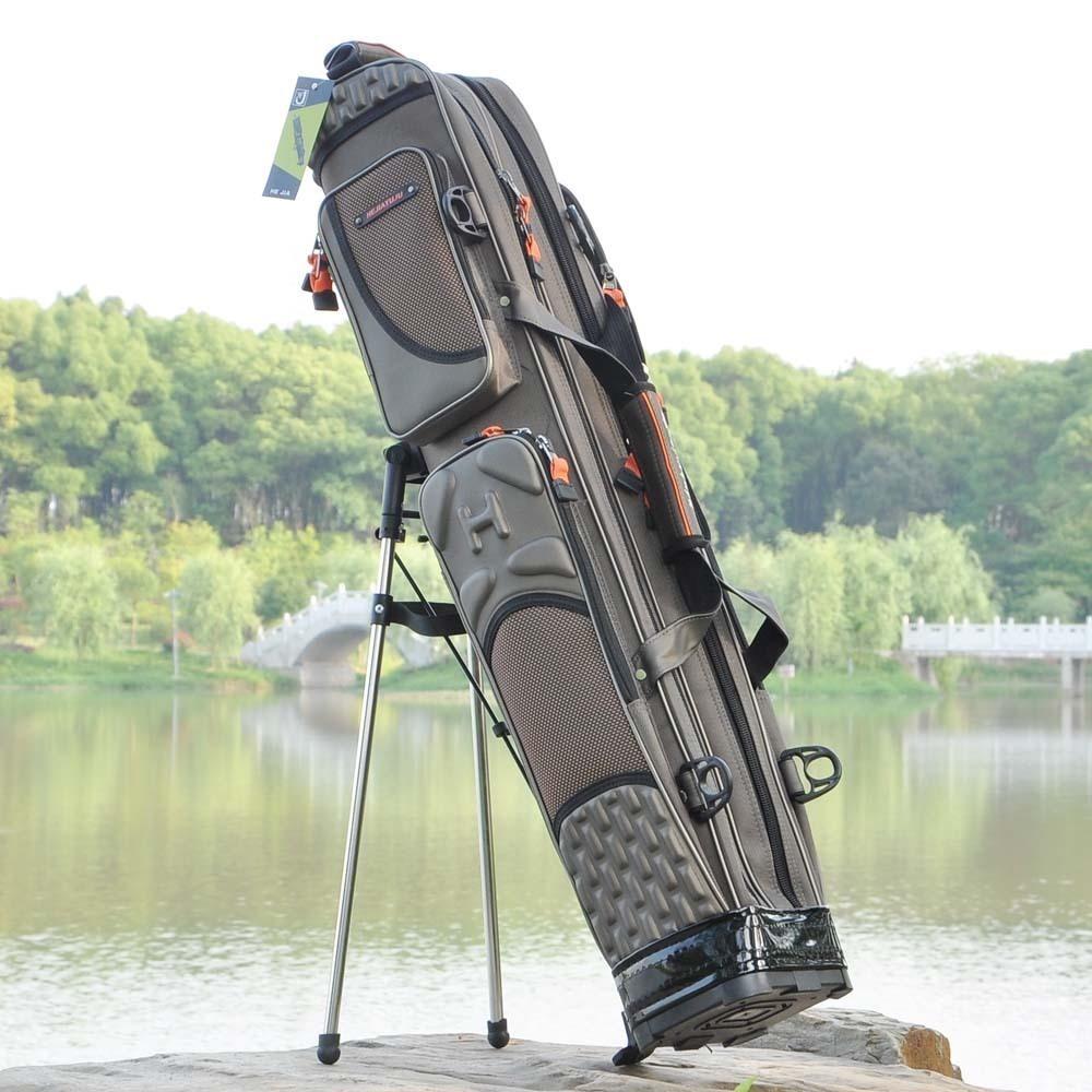 1.25米钓竿渔具包鱼包硬壳鱼竿包3层支架杆包钓鱼包120cm双肩背包