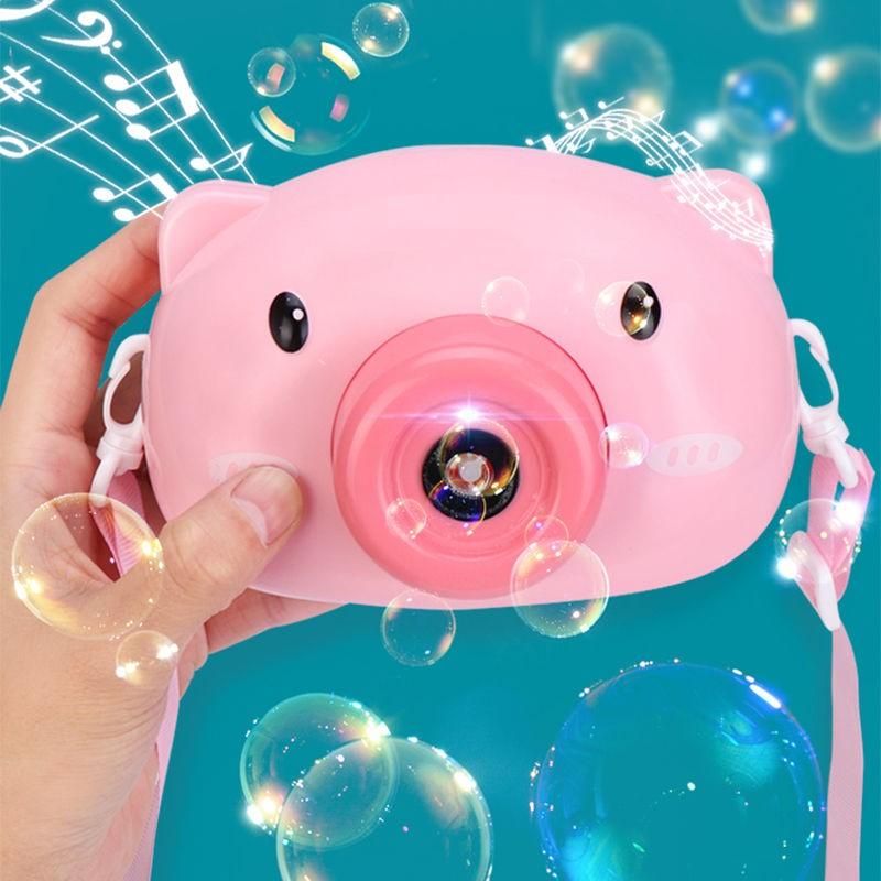 网红小猪猪吹泡泡机照相机式抖音同款少女心玩具61六一儿童节礼物