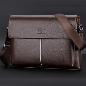 Giant kangaroo male bag shoulder bag male leather men bag messenger bag male casual business bag briefcase tide