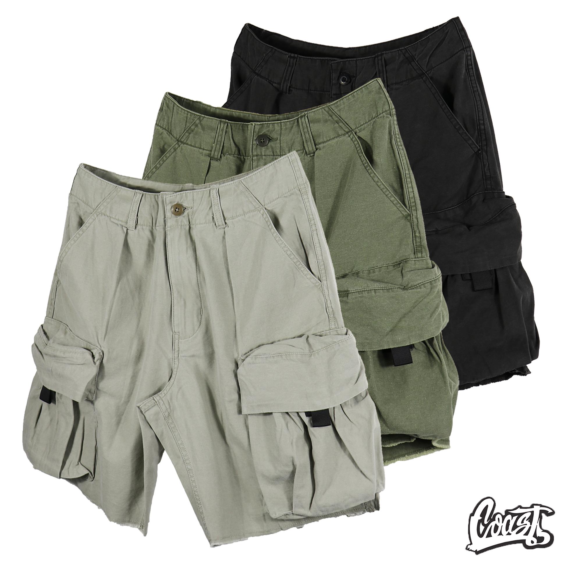 MADNESS ARMY SHORTS 20SS 水洗工装口袋短裤男休闲五分裤 余文乐