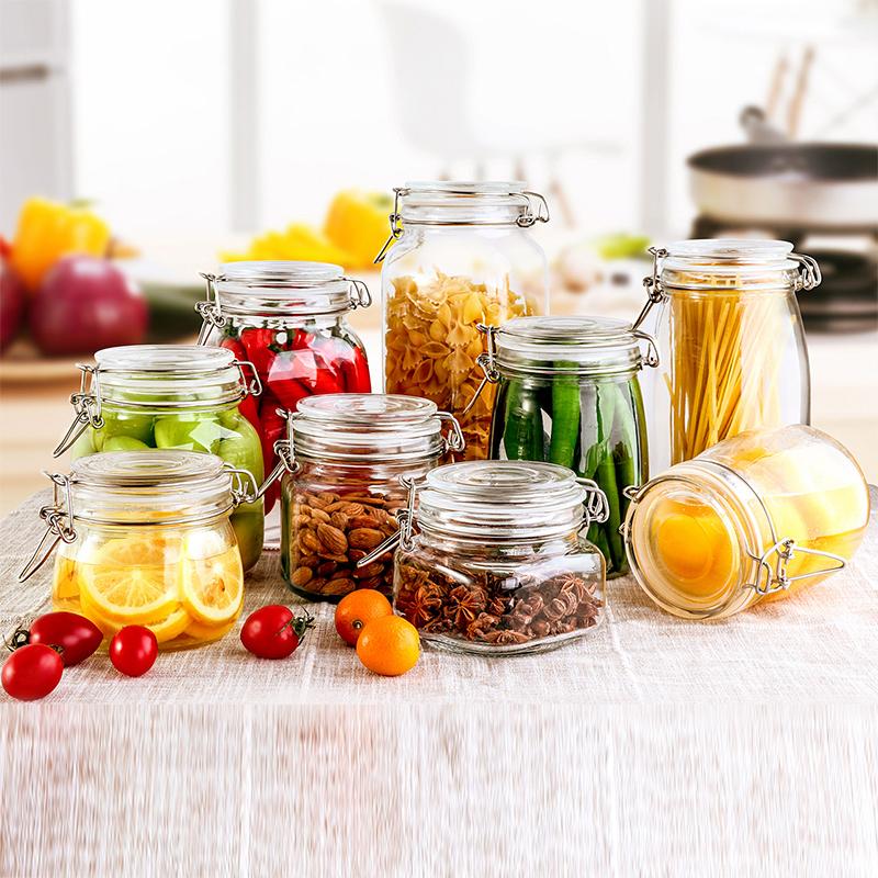 密封罐玻璃储物罐子蜂蜜柠檬食品罐头瓶腌制罐小泡菜坛子带盖瓶子