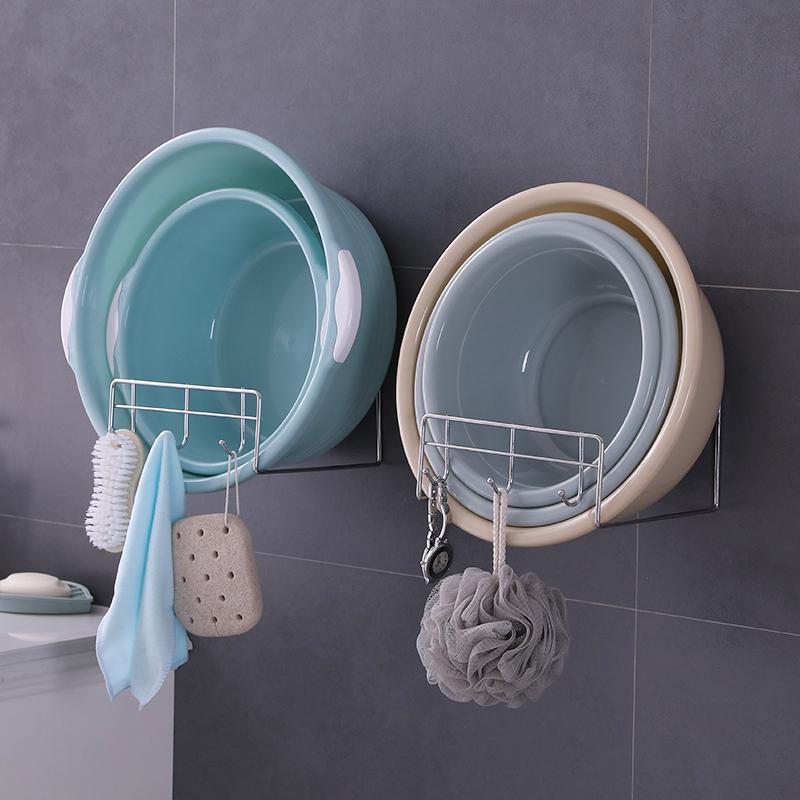 脸盆架壁挂卫生间浴室置物盆子收纳厕所洗手间免打孔放洗脸盆架子