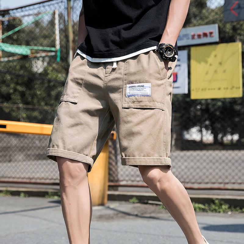 泰芝郎夏季男士五分短裤2020潮流工装外穿中裤宽松迷彩休闲七分裤满201元减200元