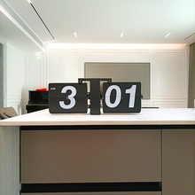 欧款钟表 复古机械自动翻页钟 客厅zh14意钟 mi钟个性时钟