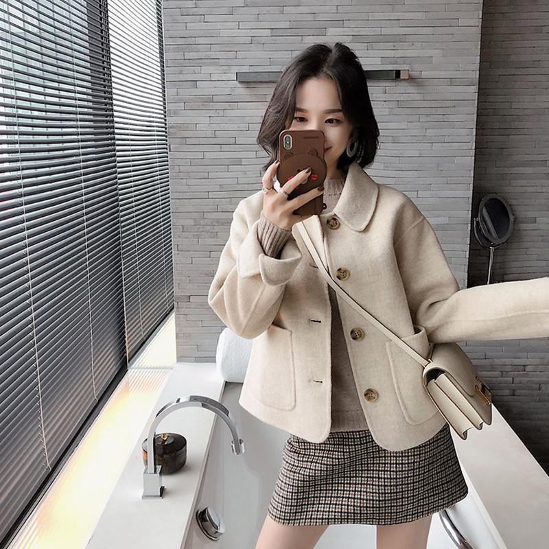 2019秋冬季新款网红两件套装裙小香风女神范轻熟时髦毛呢短外套女