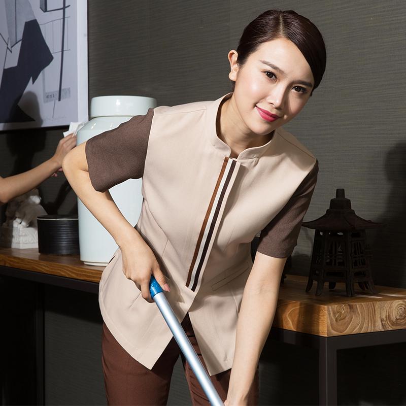 衣研堂保洁工作服短袖女物业清洁工PA阿姨夏装酒店客房保洁员服装
