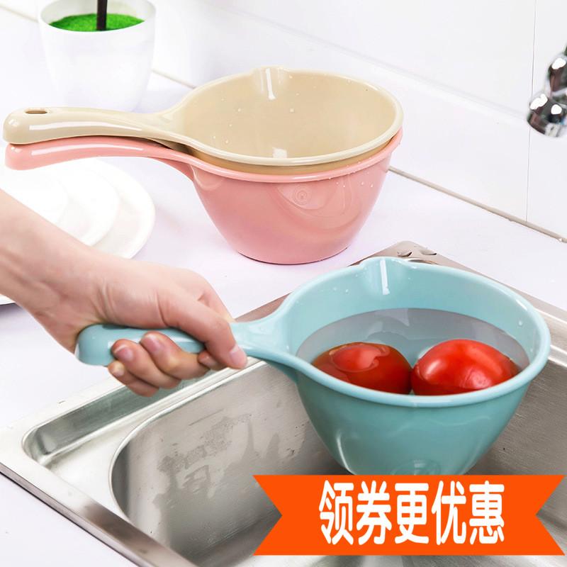 高级塑料加厚水瓢厨房长柄水勺沐浴水舀儿童宝宝洗澡瓢舀子水舀