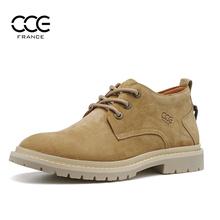 法国Cig0E男鞋秋ko丁鞋复古中帮工装鞋英伦皮鞋休闲鞋男91925
