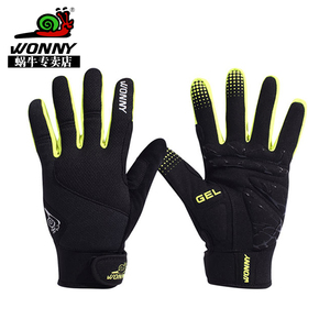 wonny snail bicycle riding gloves full finger winter windproof electric car motorcycle riding gloves touch screen