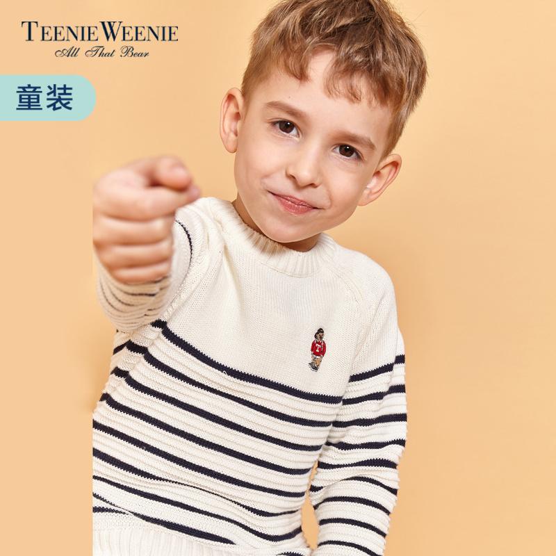 Teenie Weenie小熊2018春装新款童装男童条纹针织衫TKKW81102A