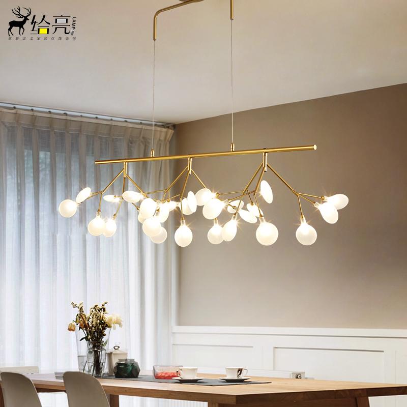 餐厅吊灯北欧萤火虫创意个性后现代灯具简约现代咖啡店吧台吊灯-给亮旗舰店