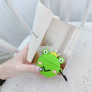 airpods protective cover frog apple wireless earphone cover two protective shell Bluetooth tide aripods2 generation protective cover box cover silicone universal ipod shell cover box ins earphone plug accessories