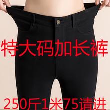 春秋冬季加超长加超大码高zy9力高腰打jc码加绒加厚女裤特长