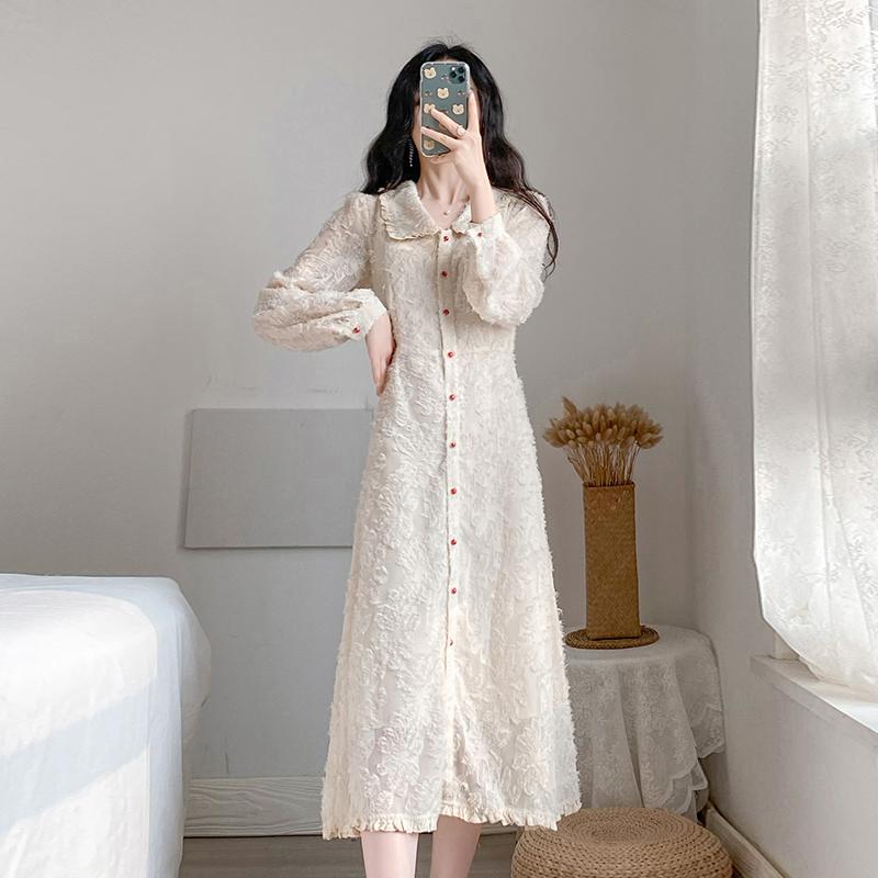 实拍#2020春季新款气质法式复古仙女超仙小香风流苏打底连衣裙