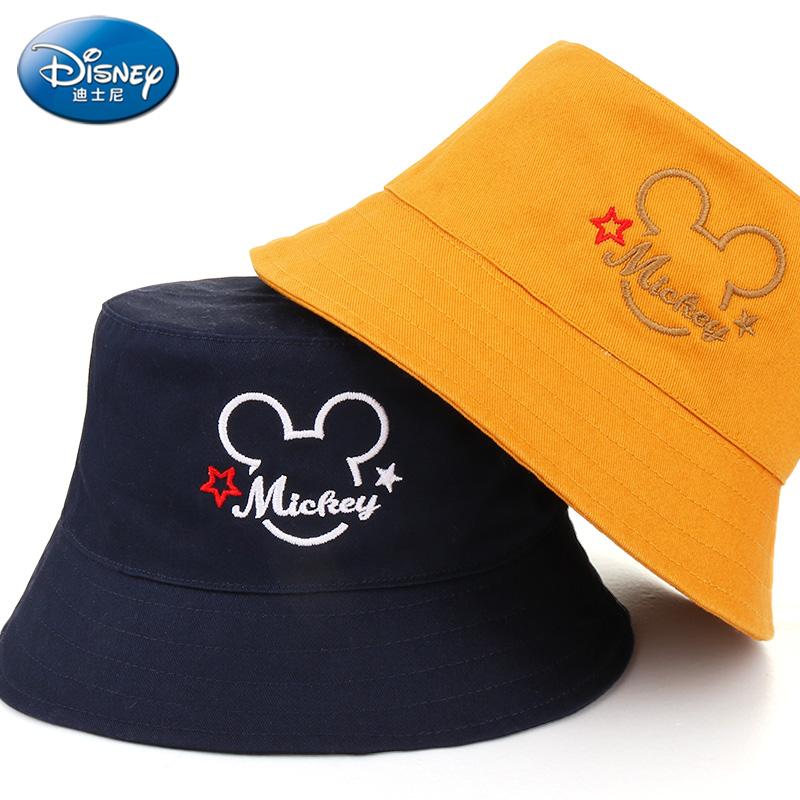 迪士尼儿童帽子男童渔夫帽夏季宝宝遮阳帽可爱女童太阳帽防晒盆帽