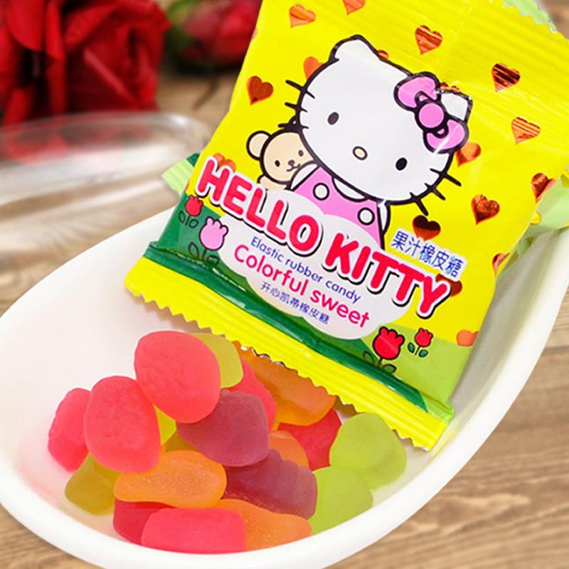 京特QQ水果软糖橡皮糖糖果儿童零食结婚喜糖散装批发包邮500g