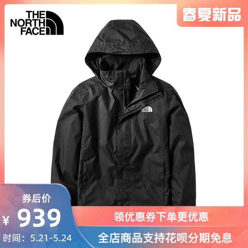 TheNorthFace北面2020新款冲锋衣男户外防水透气单层潮牌外套49F7