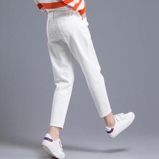 白色裤子女夏季2019新款潮哈