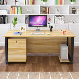 Simple computer desk desk card holder simple modern home desktop economy office furniture combination four people