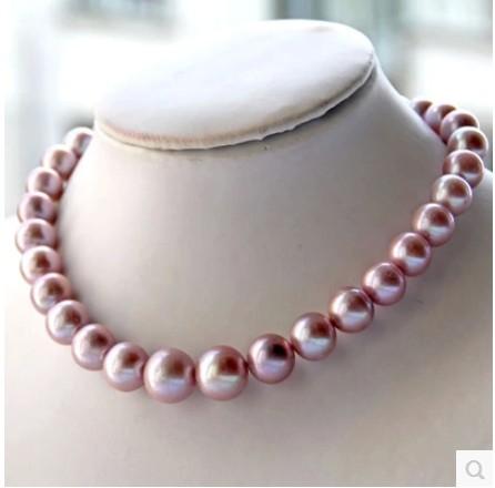 天然淡水珍珠项链11-12-13mm强光正圆送妈妈送女友正品女项链包邮