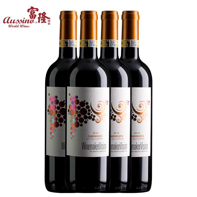 富隆胜卡罗酿酒师之选佳美娜红葡萄酒750ml*4支