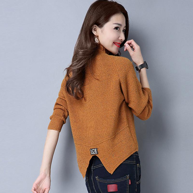 秋冬新款女装套头2018韩版修身显瘦毛衣半高领针织加厚打底衫潮