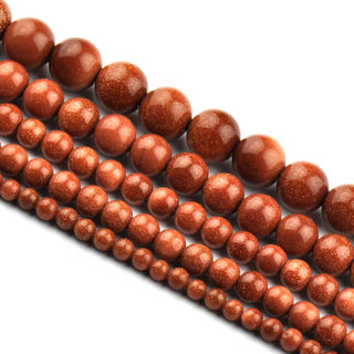 Myatou golden sand gold sandstone loose Crystal beads DIY handmade jewelry beaded red sands of semi-finished products