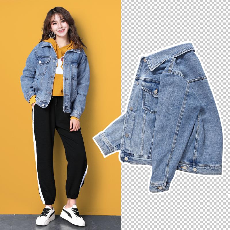 工装牛仔外套女宽松bf2019春秋新款显瘦学生韩版chic短上衣牛仔衣
