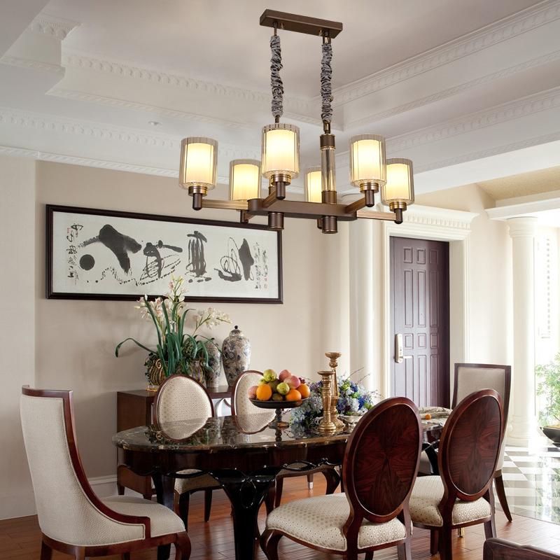 客厅 大吊灯 美式