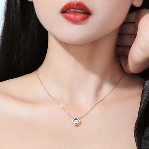 Clover necklace female sterling silver clavicle chain tide net red vibrato same paragraph 925 rose gold simple light luxury niche