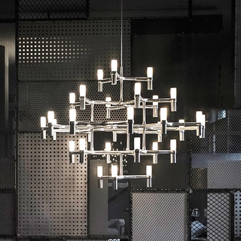 北欧后现代设计师吊灯样板房创意客厅餐厅卧室书房别墅复式楼灯具-中辉灯饰艺术馆