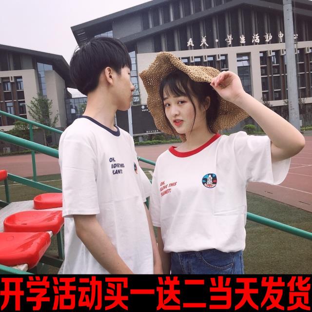 韩国ulzzang宽松bf时尚字母印花短袖T恤女韩版学生打底衫原宿上衣